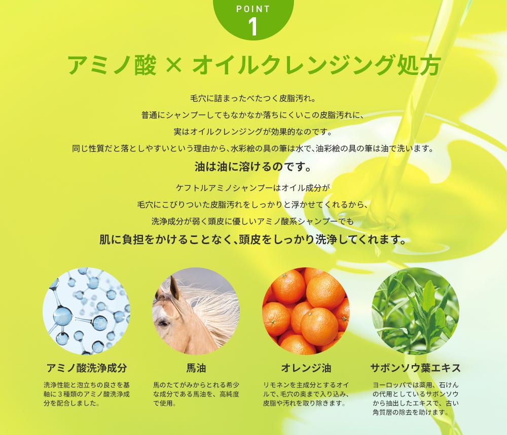 POINT1 アミノ酸×オイルクレンジング処方