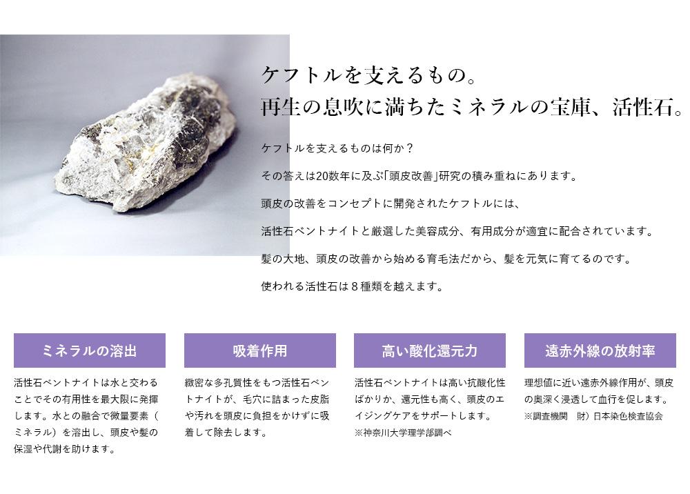 ケフトルを支えるもの。再生の息吹に満ちたミネラルの宝庫、活性石。